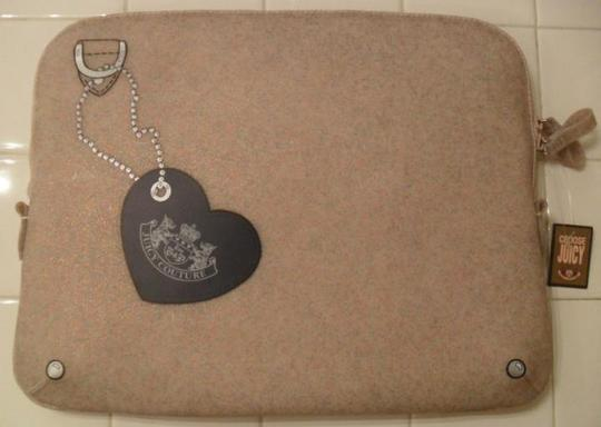Juicy Couture Juicy Couture Cream Glitter Jelly Laptop Sleeve Case NWT