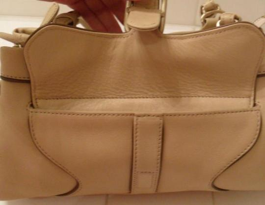 Juicy Couture Tassel Tan Leather Beige Clutch