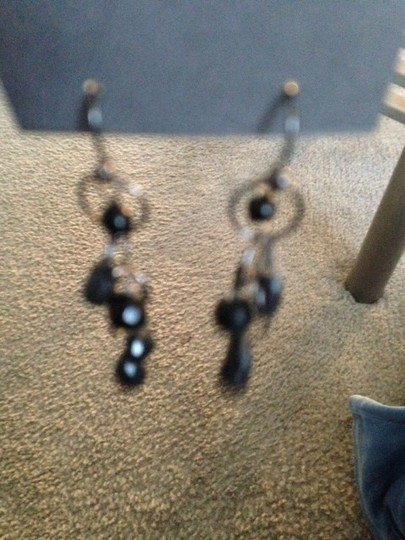 Express Black beads with gunmetal circles