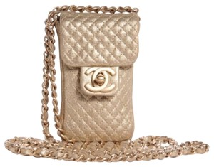 Chanel Metallic Pouch Cross Body Bag