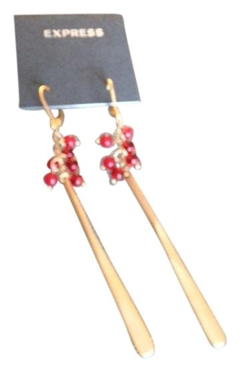 Express Red beads with gold
