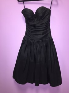 Black Strapless Formal Bridesmaid/Mob Dress Size 00 (XXS)