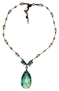 Dabby Reid Pendant Necklace Aqua Crystal
