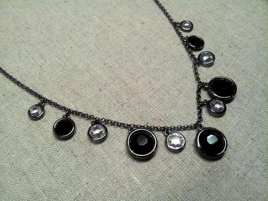 Nadri Black and Crystal Necklace