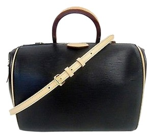 Louis Vuitton Epi Doc Pm Noir Satchel in Black