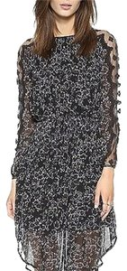 Free People Open Waters Charlotte Sz Sm Black Combo Dress