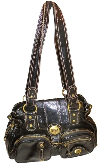 Hype Brass Hardware Compartments Satchel in Black