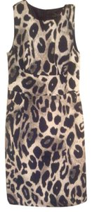 Ann Taylor short dress Leopard grey, black, white on Tradesy