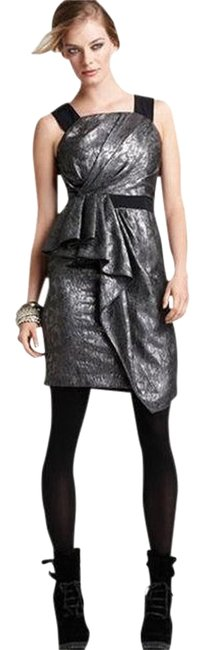 Preload https://item1.tradesy.com/images/cynthia-steffe-metallic-silver-with-black-jacquetta-above-knee-cocktail-dress-size-6-s-420385-0-0.jpg?width=400&height=650