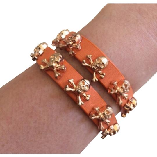 Other Orange Skull Wrap Bracelet