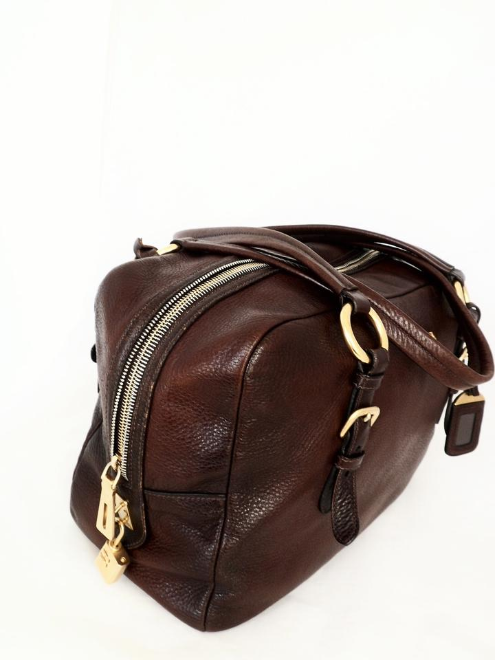 b53abe36e9bd Prada Cervo Antik Shoulder Caffe Degraded Brown Deerskin Leather ...