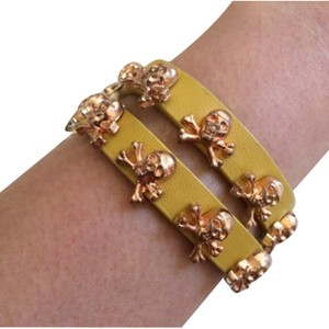 Other Yellow Skull Wrap Bracelet