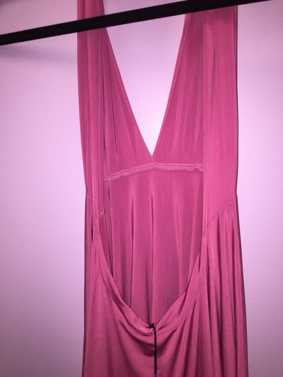 Pink (Dusty Rose) Convertible Jersey Wrap Formal Dress Size OS (one size)