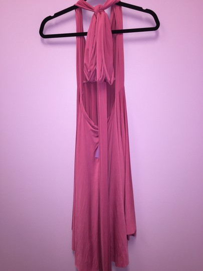 Pink (Dusty Rose) Convertible Jersey Wrap Formal Bridesmaid/Mob Dress Size OS (one size)
