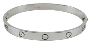 Cartier Cartier Platinum Love Bangle Bracelet Size 19