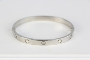 Cartier Hold For Kim Cartier Platinum Love Bangle Bracelet Size 19