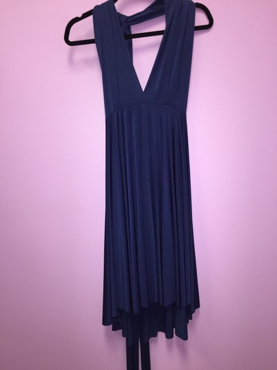 Navy Blue Convertible Jersey Wrap Formal Dress Size OS (one size)