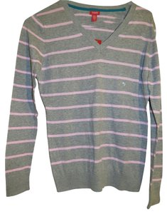 Izod Pink Striped Longsleeve Sweater