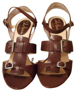 Cole Haan Gia Leather Strappy High Heel Women's Size 9 Nib Brown Sandals