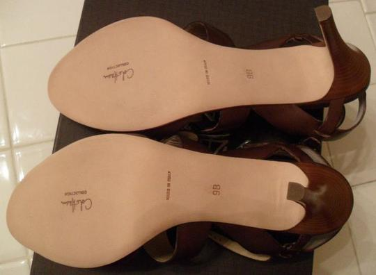 Cole Haan Leather Strappy High Heel Women's Size 9 Brown Sandals