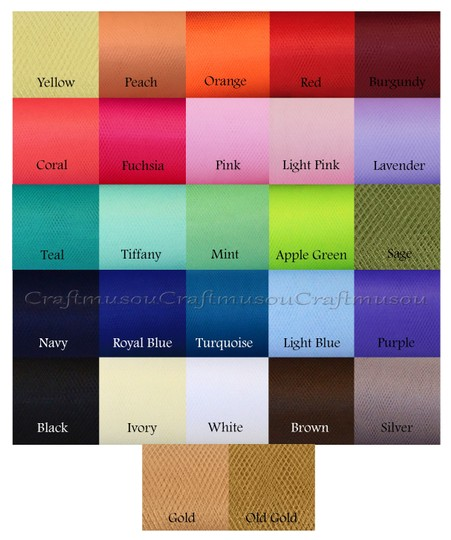 """Multi-color Many To Choose From Tulle Bolt 54"""" X 120 Feet (40yard) - Premier Quality - 20+ Color - 1 Bolt Other"""