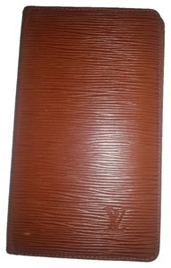 Louis Vuitton LOUIS VUITTON Brown Epi Leather Long Bifold Checkbook Wallet