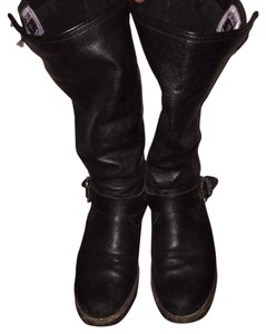 Frye Genuine Leather Comfy Black Boots