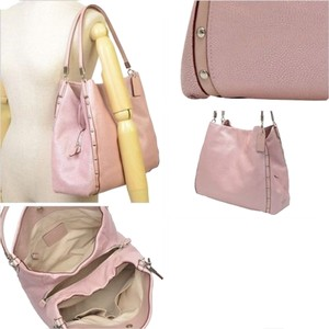 Coach Madison Phoebe Pebble Leather Pink Hand Shoulder Bag