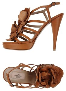 Valentino Brown 6 36 Tan Sandals