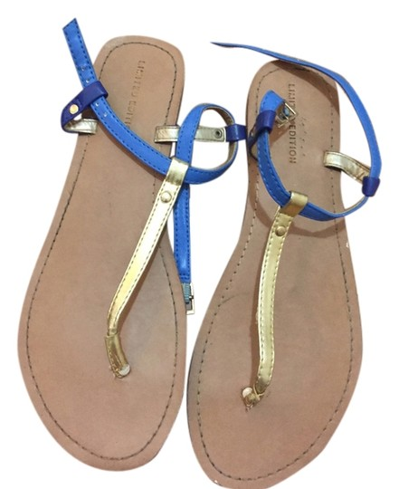 Other Limited Edition Flats Summer Gold Size 8 Aldo Blue Sandals