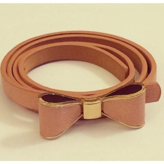 Other Dusty Pink Bow Skinny Belt