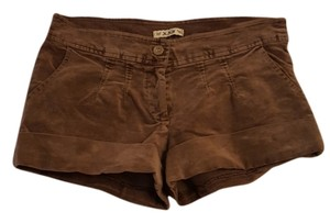 Forever 21 Velvet Cuffed Shorts Brown