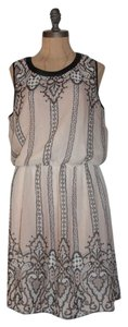 Matty M short dress BEIGE Printed Chiffon Matty Versatile on Tradesy