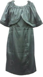 Nine West Satin Dark Green Dress