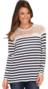 BCBGMAXAZRIA Top Navy and white stripe