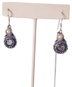 My Closet- Embellished by Leecia Blue Labradorite & White Pearl In Sterling