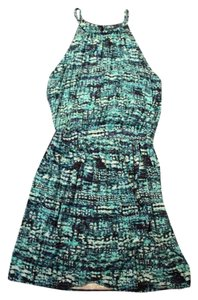 Cynthia Rowley short dress teal Summer on Tradesy