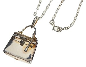 Hermès Hermes Sterling Silver Kelly Bag Pendant Necklace