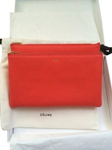 Céline Celine Leather Alizarin Clutch