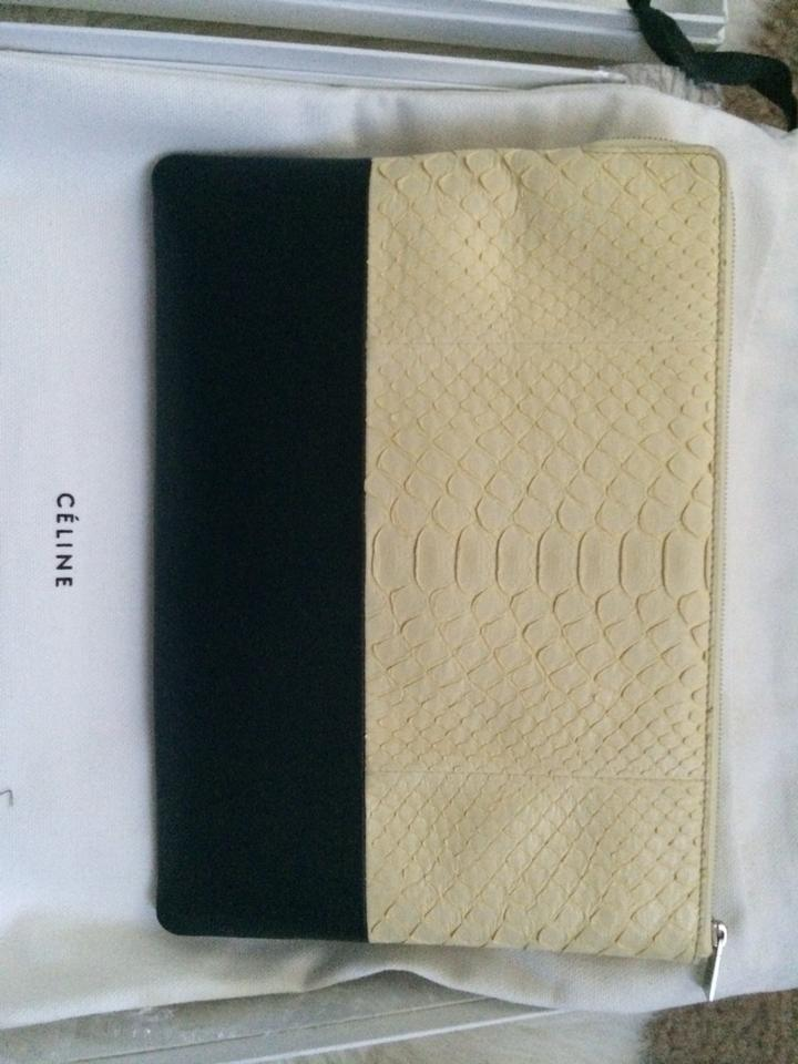 celine mini price - C��line Python Pouch Light Yellow&black Clutch on Sale, 44% Off ...