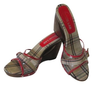 SOHO LAB Great Condition Look New Size 8.00 NEUTRAL, RED, BLACK Wedges