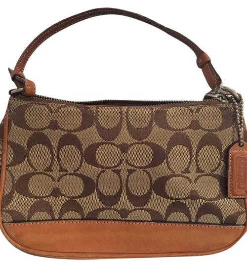Preload https://item5.tradesy.com/images/coach-purse-tan-c-material-with-leather-clutch-4206829-0-0.jpg?width=440&height=440