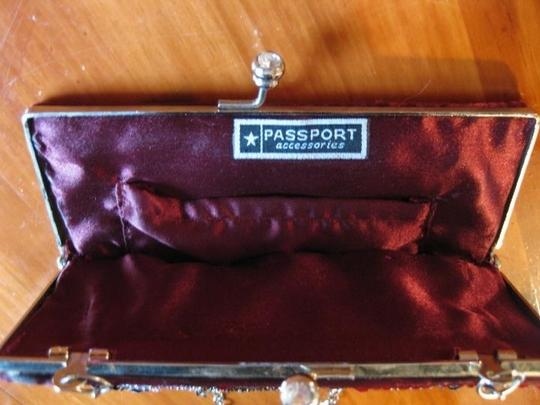 Passport Sequin Beaded Convertible Wine Clutch