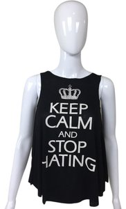 Other Keep Calm Top black, white