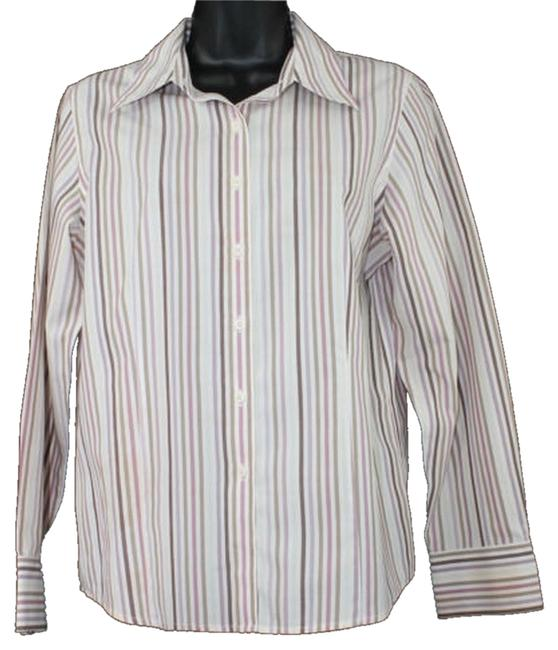 Preload https://item2.tradesy.com/images/talbots-wrinkle-resistant-stripes-print-cotton-blouse-button-down-top-size-10-m-4207246-0-0.jpg?width=400&height=650