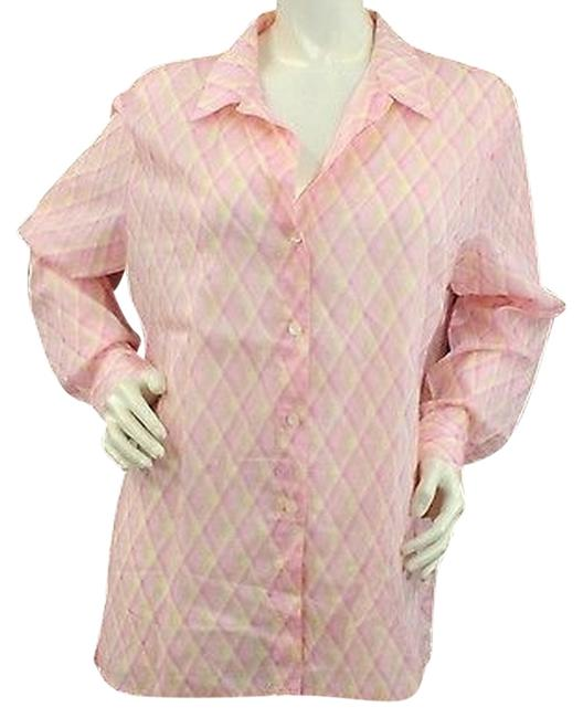 Preload https://item1.tradesy.com/images/liz-claiborne-print-buttoned-long-sleeved-cotton-shirt-blouse-l-button-down-top-size-12-l-4207285-0-0.jpg?width=400&height=650