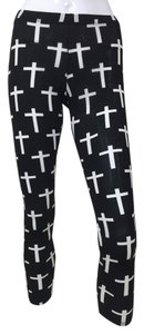 Black Cross black, white Leggings