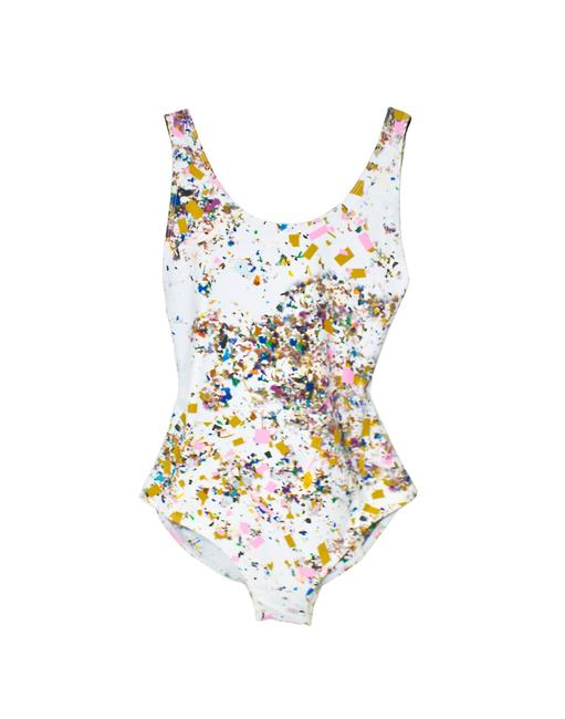 Cynthia Rowley Confetti Cut Out One Piece