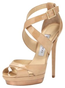 Jimmy Choo Nude and Pewter Formal