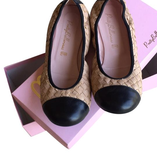 Pretty Ballerinas Light choclate brown and black Flats